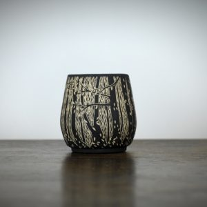 Sgraffito Autumn Woodland Pot Medium